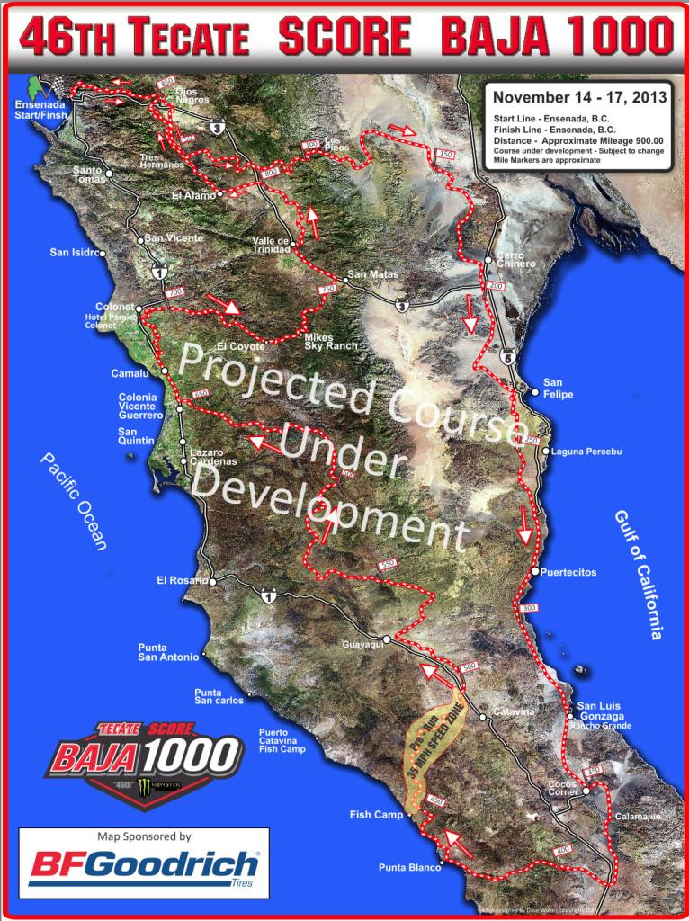 2013-Tecate-SCORE-Baja-1000-Map